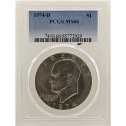 1974-D Eisenhower Dollar PCGS MS66