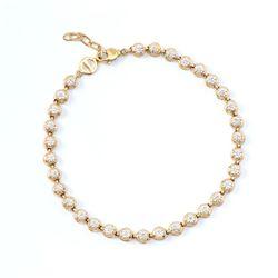 Plated 18KT Yellow Gold 0.25ctw Diamond Bracelet