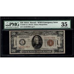 1934A $20 Hawaii Federal Reserve Note PMG 35