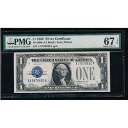 1928 $1 Silver Certificate PMG 67EPQ