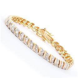 Plated 18KT Yellow Gold 0.39ctw Diamond Bracelet