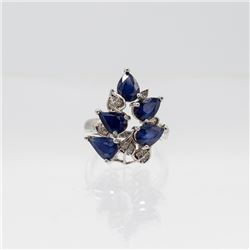 Certified Natural 2ct Blue Sapphire Ring