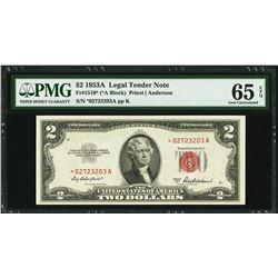 1953A $2 Legal Tender STAR Note PMG 65EPQ