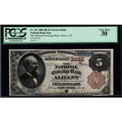 1882 $5 Albany National Bank Note PCGS 30