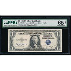 1935D $1 Silver Certificate PMG 65EPQ
