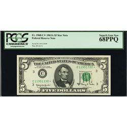 1963A $5 Philadelphia Federal Reserve STAR Note PCGS 68PPQ