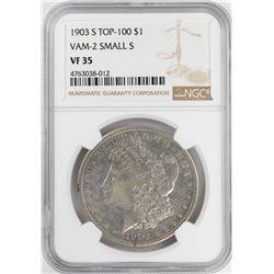 1903-S Top 100 $1 Morgan Silver Dollar Coin NGC VF35 VAM-2 Small S