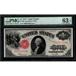 1917 $1 Legal Tender Note PMG 63EPQ