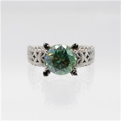 Lab Created 3.80ct Mint Green Diamond Ring