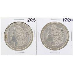 Lot of 1885-1886 $1 Morgan Silver Dollar Coins