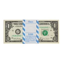 Pack of (100) Consecutive 2017 $1 Federal Reserve STAR Notes Kansas City