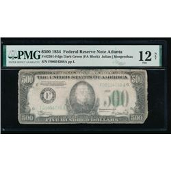 1934 $500 Atlanta Federal Reserve Note PMG 12NET
