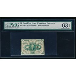 10 Cent First Issue Fractional Note PCGS 63EPQ