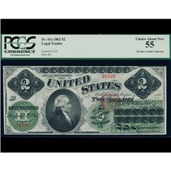 1862 $2 Legal Tender Note PCGS 55