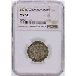 1875C Germany 1 Mark Coin NGC MS64