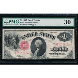 1917 $1 Legal Tender Note PMG 30