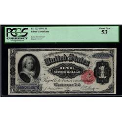 1891 $1 Martha Washington Silver Certificate PCGS 53