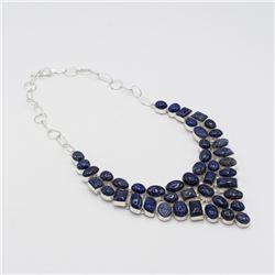 Natural 202ct Blue Lapis Lazuli Necklace