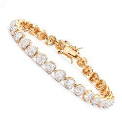 Plated 18KT Yellow Gold Diamond Bracelet