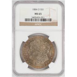 1884-O $1 Morgan Silver Dollar Coin NGC MS65 Nice Toning