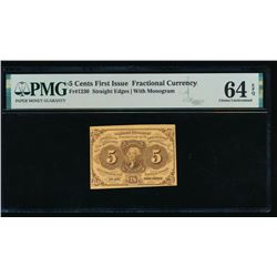 5 Cent First Issue Fractional Note PMG 64EPQ