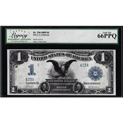 Serial # 23 - 1899 $1 Black Eagle Silver Certificate Note Fr.230 Legacy Gem New 66EPQ