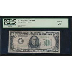 1934A $500 Chicago Federal Reserve Note PCGS 35