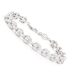 Plated Rhodium Diamond Bracelet