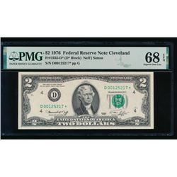 1976 $2 Cleveland Federal Reserve STAR Note PMG 68EPQ