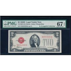 1928D $2 Legal Tender Note PMG 67EPQ