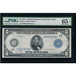 1914 $1 New York Federal Reserve Note PMG 65EPQ