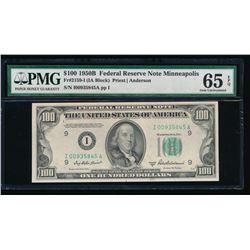 1950B $100 Minneapolis Federal Reserve Note PMG 65EPQ
