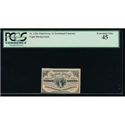 3 Cent Third Issue Fractional Note PCGS 45