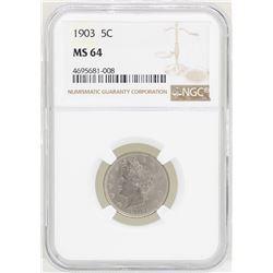 1903 Liberty V Nickel Coin NGC MS64