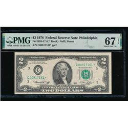 1976 $2 Philadelphia Federal Reserve STAR Note PMG 67EPQ