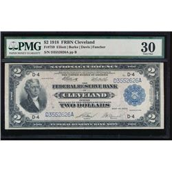 1918 $2 Cleveland Federal Reserve Bank Note PMG 30