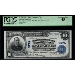 1902 $10 Anglo and London Paris National Bank Note PCGS 45