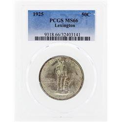 1925 Lexington Commemorative Half Dollar Coin PCGS MS66