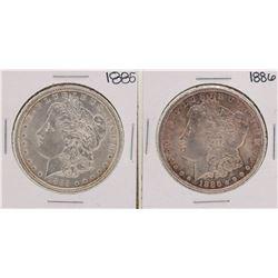 1885-1886 $1 Morgan Silver Dollar Coins