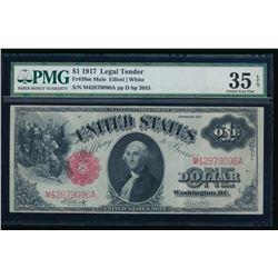 1917 $1 Legal Tender Note PMG 35EPQ