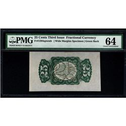 25 Cent Third Issue Fractional Note PMG 64