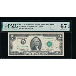 1976 $2 New York Federal Reserve STAR Note PMG 67EPQ