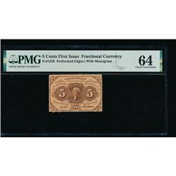 5 Cent First Issue Fractional Note PMG 64