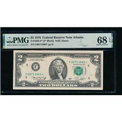 1976 $2 Atlanta Federal Reserve STAR Note PMG 68EPQ