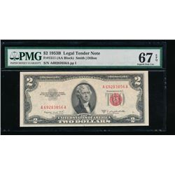 1953B $2 Legal Tender Note PMG 67EPQ