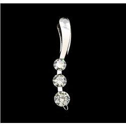 1.00 ctw Diamond Pendant - 14KT White Gold