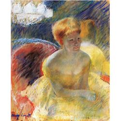 Mary Cassatt - Lydia, The Arms Rested, In The Theater Loge