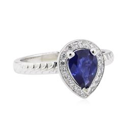 1.16 ctw Sapphire and Diamond Ring - Platinum