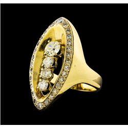 1.73 ctw Diamond Ring - 14KT Yellow Gold