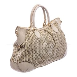 Louis Vuitton White Multicolor Mini Lin Croisette Marina GM Bag
